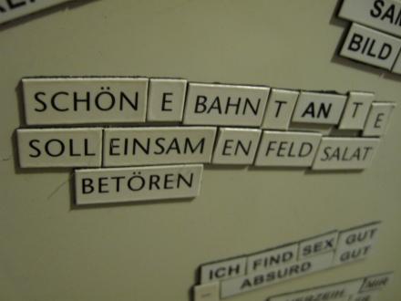 Der ominöse Bahntantentext ;)