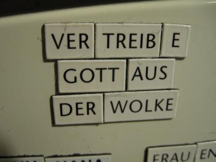 """""""Fromme"""" Wünsche am Kühlschrank..."""