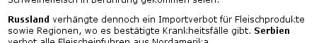 Importverbot für Regionen, Screenshot: spiegel.de