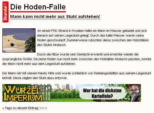 Dicke Kartoffeln, Screenshot: sinnfrei.com