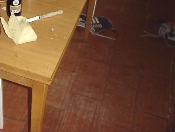 Küchenbodenausschnitt ein Jahr vor mir 01/2006