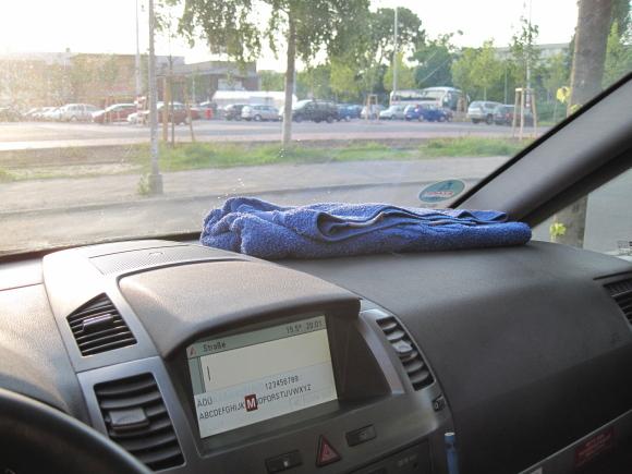 Towel-Day im Taxi, Quelle: Sash
