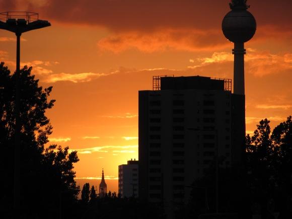 Sonnenuntergang in Berlin, Quelle: Sash